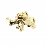 Anhänger, 14X10mm, Elefant, goldfarben