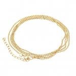 Halskette (ballchain) mit Ringverschluß, 55cm, hellgoldfarben