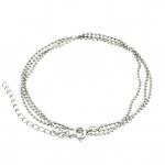 Halskette (ballchain) mit Ringverschluß, 55cm, silberfarben