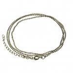 Halskette (ballchain) mit Ringverschluß, 55cm, bronzefarben