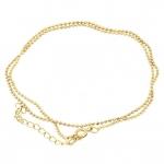 Halskette (ballchain) mit Ringverschluß, 42cm, hellgoldfarben