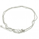 Halskette (ballchain) mit Ringverschluß, 42cm, silberfarben