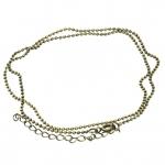 Halskette (ballchain) mit Ringverschluß, 42cm, bronzefarben