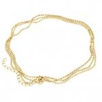 Halskette (ballchain) mit Ringverschluß, 75cm, hellgoldfarben