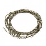 Dreigliedrige Halskette (ballchain) mit Ringverschluß, 55cm, bronzefarben