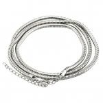 Halskette (snakechain) mit Ringverschluß, 60cm, silberfarben