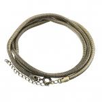 Halskette (snakechain) mit Ringverschluß, 60cm, bronzefarben
