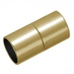 Magnetverschluß, 20X9mm, Loch-Ø 8mm, Metall, goldfarben