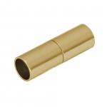 Magnetverschluß, 20X7mm, Loch-Ø 6mm, Metall, goldfarben