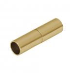 Magnetverschluß, 18X6mm, Loch-Ø 5mm, Metall, goldfarben