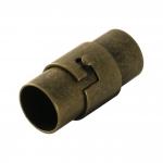 Magnetverschluß, 18X9mm, Loch-Ø 7mm, Metall, bronzefarben