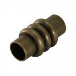 Magnetverschluß, 20X10mm, Loch-Ø 6mm, Metall, bronzefarben
