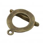 Knebelverschluß, 15X24mm, bronzefarben