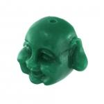 Motivperle, 12X8mm, Buddha, dunkelgrün