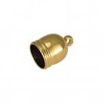 Endkappe mit Öse, 9mm, Loch-Ø 4mm, goldfarben