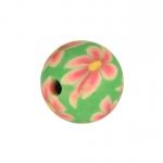 Fimoperle, 8mm, rund, hellgrün