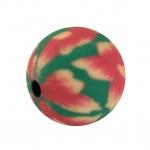 Fimoperle,10mm, rund, grün