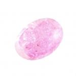 Glasperle in Kristalloptik, 10X8mm, oval, rosa