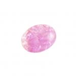 Glasperle in Kristalloptik, 8X6mm, oval, rosa