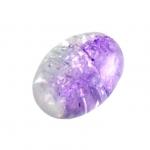 Glasperle in Kristalloptik, 10X8mm, oval, violett
