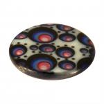 Perlmuttscheibe mit Fantasiemuster, 20mm, schwarz