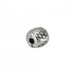 Metallperle, 4X4mm, silberfarben