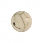 Perle in Marmoroptik, 10mm, eierschalen weiß