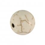 Perle in Marmoroptik, 12mm, eierschalen weiß