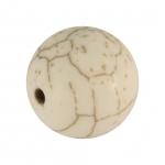 Perle in Marmoroptik, 14mm, eierschalen weiß