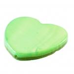 Perlmuttherz, 16X16mm, grasgrün