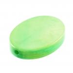 Perlmuttplättchen, 18X14mm, oval, grasgrün