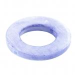 Perlmuttring, 20mm, rund, hellblau-violett
