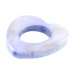 Perlmuttherz, 16X16mm, hellblau-violett