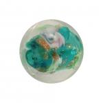 Glasperle (Leuchtperle), 11mm, türkis
