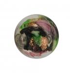 Glasperle (Leuchtperle), 11mm, schwarz