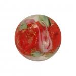 Glasperle (Leuchtperle), 11mm, rot