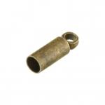 Endkappe, 2,8X9mm, Loch-Ø 2,2mm, Zylinder, bronzefarben