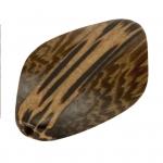 Palmwood & Madre de Cacao, 30X6mm, Raute, versch. Brauntöne