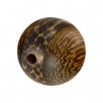 Palmwood & Madre de Cacao Wood, 10mm, rund, versch. Brauntöne