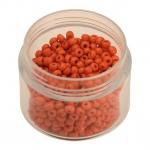 Rocailles, 20g, rund, 3mm (8/0), orange opaque