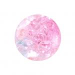 Glasperle in Kristalloptik, 10mm, rund, rosa