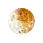 Glasperle in Kristalloptik, 10mm, rund, honigfarben