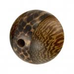 Palmwood & Madre de Cacao Wood, 12mm, rund, versch. Brauntöne