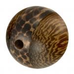 Palmwood & Madre de Cacao Wood, 15mm, rund, versch. Brauntöne