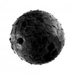 Perle aus Leder, 15mm, rund, schwarz