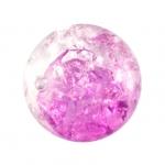 Glasperle in Kristalloptik, 12mm, rund, dunkelpink