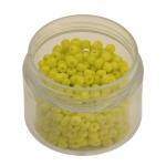 Rocailles, 20g, rund, 3mm (8/0), gelb opaque