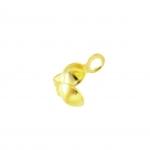 Kalotte (10 Stück), 3,6mm, rund, hellgoldfarben