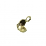Kalotte (10 Stück), 3,6mm, rund, bronzefarben