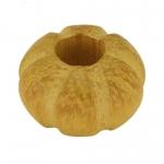 Großlochperle aus Holz (Nangka Wood), 14X8mm, safrangelb